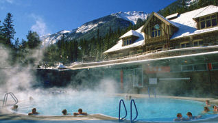 Pleiades Day Spa Bannf Upper Hot Spring located in Banff, Alberta Canada